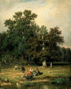 Landscape Trees by Ivan Shishkin 05 E
