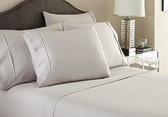 """#1 Bed Sheet Set Queen Size Light Grey Solid Soft Quality Genuine 800-Thread-Count (15"""" Pockets) Super Rich Egyptian Cotton by Rajlinen //http://bestadjustablebed.us/product/1-bed-sheet-set-queen-size-light-grey-solid-soft-quality-genuine-800-thread-count-15-pockets-super-rich-egyptian-cotton-by-rajlinen/"""