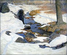 Wyeth - Brandywine Hill country - untitled (Brook in Winter) Jamie Wyeth, Andrew Wyeth, Landscape Art, Landscape Paintings, Watercolor Paintings, Nc Wyeth, Snow Art, Winter Art, Winter Snow
