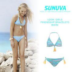 UPF50+ fabric makes this tasseled, festival-inspired bikini an absolute must-have. #sunuva