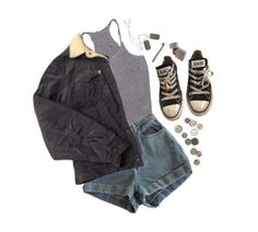 """""""here i go again"""" by dahmergirl ❤ liked on Polyvore featuring American Apparel, Levi's and Converse"""