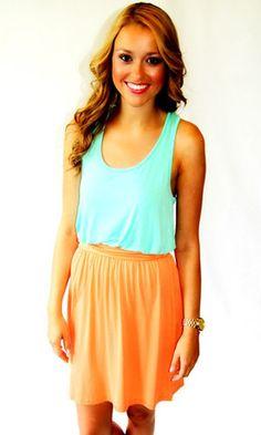 Two-Faced Mint Dress- $38, www.laversei.com