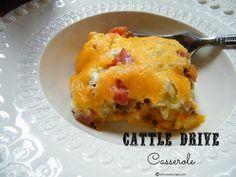 Inspired by a John Wayne Casserole, Cattle Drive Casserole is a cowboy casserole recipe you'll just love.