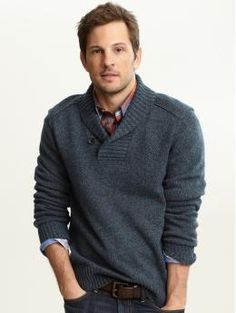 Yes, I admit it. I am completely obsessed with the Banana Republic Man. I love him.