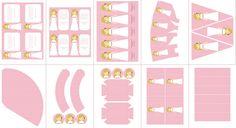 Postreadicción: Galletas decoradas, cupcakes y cakepops: Imprimible de comunión para niña, modelo rosa