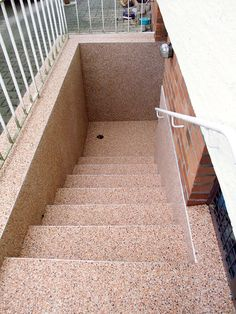Stone carpet on cellar stairs of www.