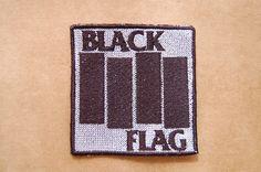 Patch 100% bordado. Acabamento manual. Black flag classic . www.facebook.com/PatchesDonaRamona