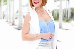Blame it on Mei, @blameitonmei, Miami Fashion Blogger, Summer Skirt, Trench Coat, Long Vest, Clarita Alexandre Birman sandals, Chloe Faye handbag, topshop stripe skirt, topshop cami