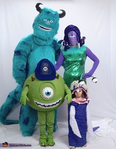 Bobbi: I started on these costumes at the beginning of September. I got the idea when my 2 year old started screaming and I half expected the lights to start flickering...