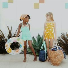 Rey Swimwear for your littles.  {Madeline in Mint} and {Madeline in Sunburst} www.reyswimwear.com