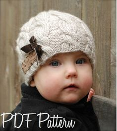 Knitting PATTERN-The Ella Hat Toddler Child by Thevelvetacorn