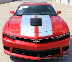 """2014-2015 Chevy Camaro S-SPORT """"OEM Factory Style"""" Rally and Racing Stripes Kit for SS Models Only"""