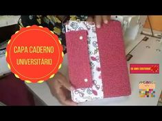 Capa para Caderno Universitário Aula ao Vivo#17 - YouTube Vivo, Youtube, Lunch Box, College Notebook, Quilts, Step By Step, Capes, Creativity, Creative