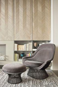 Modern Neutral Living Room Lounge Chair