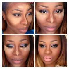 contouring nose for black women | the way I contour my face. I use suede mocha by black opal to contour ...