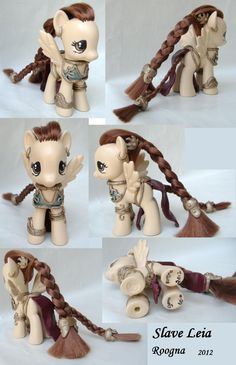 Custom My Little Pony Slave Leia Star Wars pegasus. $155.00, via Etsy.