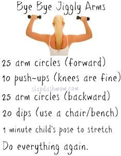Arms workout.