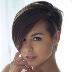 Pictures Of Short Hairstyles With One Side Shaved Hair Style