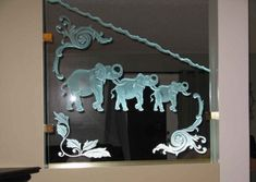 carved-glass-dividers-0044 Glass Room Divider, Room Dividers, Glass Etching, Etched Glass, Living Room Mirrors, Glass Design, Carving, Projects, Home Decor