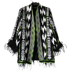 Pierre Balmain Couture Tribal Jacket with Maribou Beads ($3,500) ❤ liked on Polyvore featuring pierre balmain