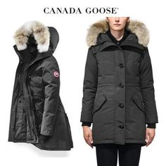 CANADA GOOSE ダウンジャケット・コート CANADA GOOSE Rossclair Parka Fusion Fit COOLなGraphite Canada Goose Women, Canada Goose Jackets, Parka, Winter Jackets, Fitness, Fashion, Winter Coats, Moda, Winter Vest Outfits