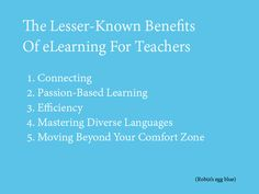 The Lesser-Known Benefits Of eLearning For Teachers
