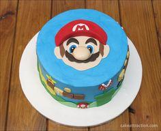 Tarta Mario Bros. Paso a paso en el blog.