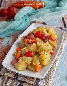 Patate tonno carote e würstel
