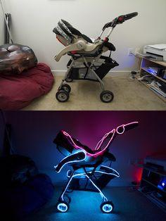 Tron stroller. Cool