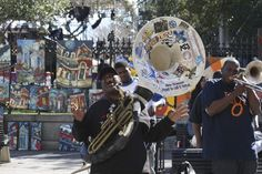 A tuba player in Jackson Square, New Orleans LA