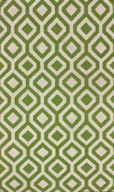 Rugs USA Kilim lattice Green Rug, 8x10, $726