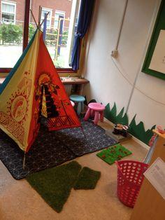 Huishoek:spelen in een tent, bbq en moestuin