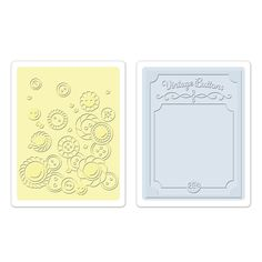 Sizzix+-+Textured+Impressions+-+Embossing+Folders+-+Vintage+Buttons+Set+at+Scrapbook.com