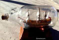 Ship In The Bottle Nautical Antiques and Decor | Nautical decor | Yacht models | Nautical themes | Handcrafted Ship Models