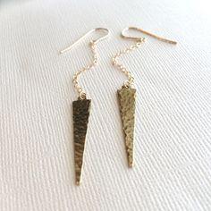 Gold Spike Earrings by marigoldmary