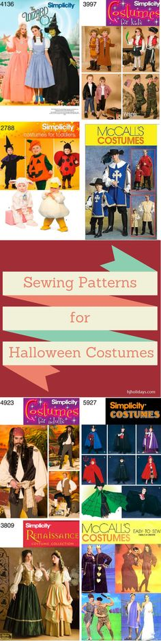 Sewing Patterns for Halloween Costumes - Holly Jolly Holidays Make delightful costumes with your own personalized touch for everyone in the family with these sewing patterns.