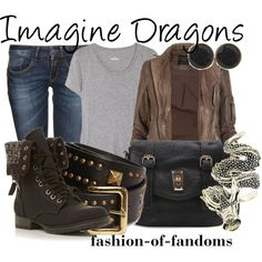 Imagine Dragons, created by fofandoms on Polyvore