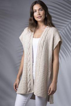 Shades of Summer Digital Design Kollektion - Breien . - Shades of Summer Digital Design Kollektion – Breien - Knit Vest Pattern, Sweater Knitting Patterns, Knitting Designs, Knit Patterns, Knitting Blogs, Knitting For Beginners, Free Knitting, Mohair Cardigan, Duster Vest