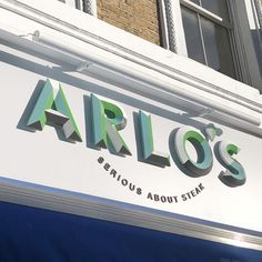Prismatic Letters for a restaurant sign in London. By London Sign Maker's Goodwin & Goodwin.