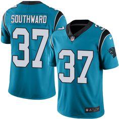 Men's Nike Carolina Panthers #37 Dezmen Southward Elite Blue Rush NFL Jersey
