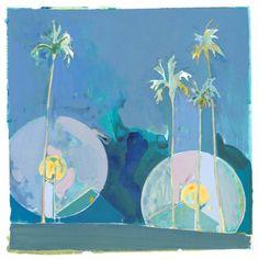 "Saatchi Art Artist Charlotte Evans; Painting, ""streetlight palms (unframed)"" #art"