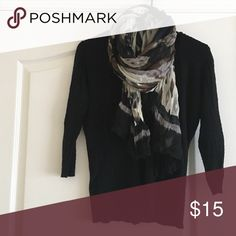 ‼️last chance‼️New York & Company 3/4 inch Sleeve Great condition. Few pulls and slight signs of wear. It has a v-neck. Great with scarves. But scarf in picture not included Sweaters V-Necks