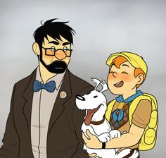 """charlattes: """" I can't believe I spent a whole summer drawing tintin au fanart """""""