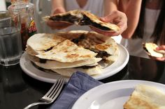 Black-Bean Quesadillas with Goat Cheese