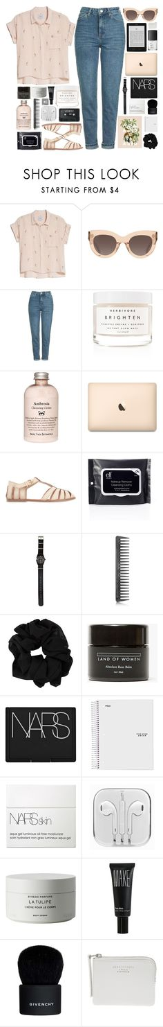 """""""Untitled #1061"""" by akp123 ❤ liked on Polyvore featuring Rails, CÉLINE, Topshop, Herbivore, Urge, Stussy, GHD, Land of Women, NARS Cosmetics and Byredo"""