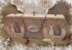 """Купить Набор коробков """"HAPPY EASTER"""" - бежевый, короб для хранения, коробочка, короб для кухни, Пасха"""