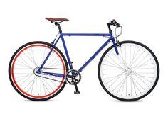 Buffalo HunterLifestyleChappelli Modern Fixie Single Speed Bicycle Red, White & Blue