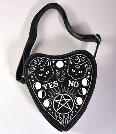 Black Leatherette Occult Internal Fire Handbag