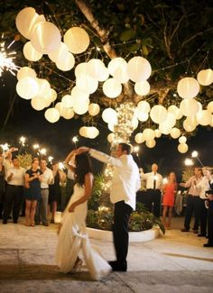 Wedding deco lampion lantern outside inside