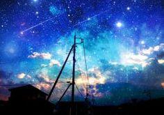 original asuka night original scenic sky stars wallpaper
